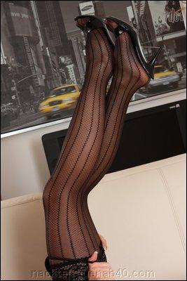 Reife Füsse in Nylon